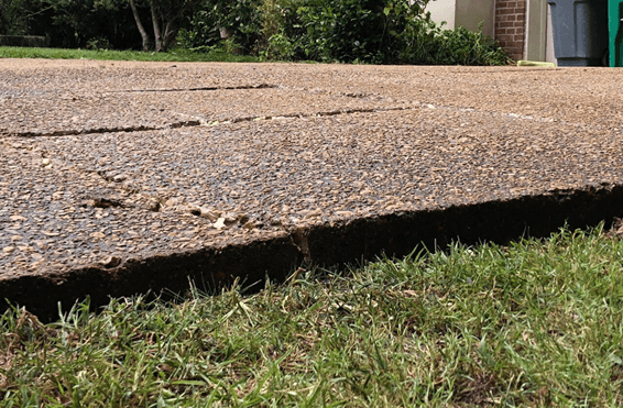 Driveway after Being Repaired with Polyfoam Leveling