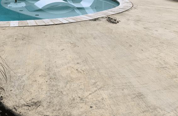repaired level concrete pool deck