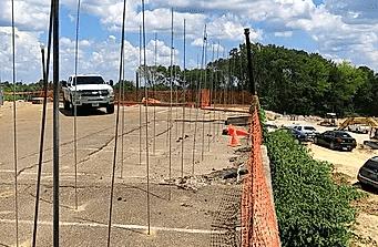 helms polyfoam leveling asphalt parking lot